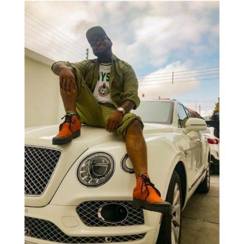 Davido on his Bentley Bentayga