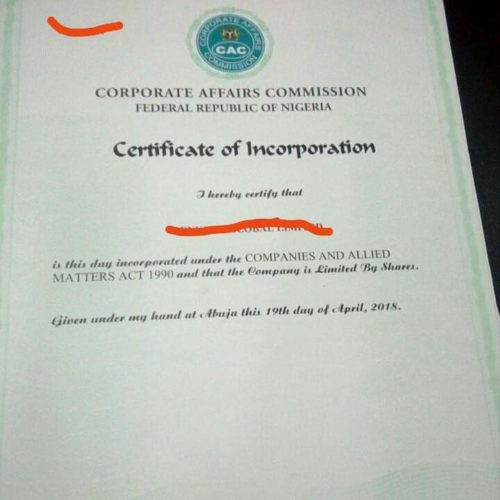 On Business Name Upgrade in Nigeria