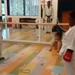 Davido's Daughter Imade And Tiwa Savage's Son Jamil Take Karate Lessons
