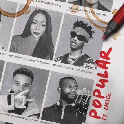 DOWNLOAD Rouge feat. Emtee - 'Popular' MP3