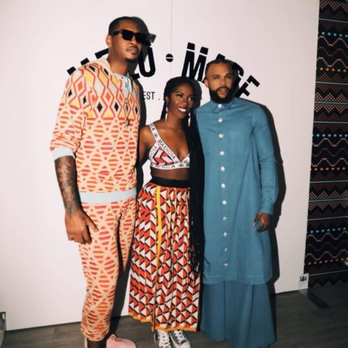 [MUST SEE] Tiwa Savage & Jidenna came through for Carmelo Anthony at Melo Made Showcase