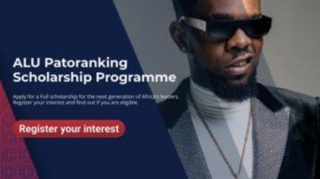 ALU Patoranking Scholarship Programme 2020 for Undergraduate African Students
